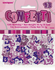 Pink Glitz 13th Birthday Party Confetti 14g